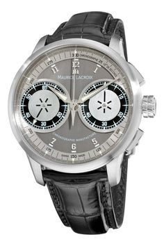 Maurice Lacroix Men's MP7128-SS001320 MasterPiece Grey and Silver Dial Watch  #MauriceLacroix, #Watch
