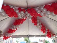 Garland under a tent, Balloons by Balancia LLC
