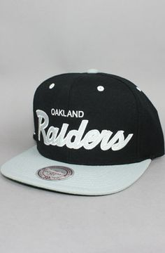 607dd6711fd 123SNAPBACKS Oakland Raiders Snapback Hat (M amp N Script) Raiders Cake
