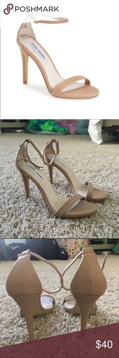 Steve Madden Stecy Nude leather Steve Madden Stecy. Worn once, no flaws, in great condition. WOMENS size 7.5 no trades open to offers Steve Madden Shoes Heels