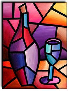 Art: A Good Year by Artist Amanda Hone – Malerei Simple Canvas Paintings, Small Canvas Art, Diy Canvas Art, Indian Art Paintings, Modern Art Paintings, Cubist Art, Composition Art, Oil Pastel Art, Arte Pop