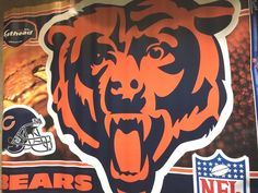 Fat Head NFL Chicago Bears Vinyl Wall Graphic, Sticker! 39 x 40! Retail $89 #Fathead
