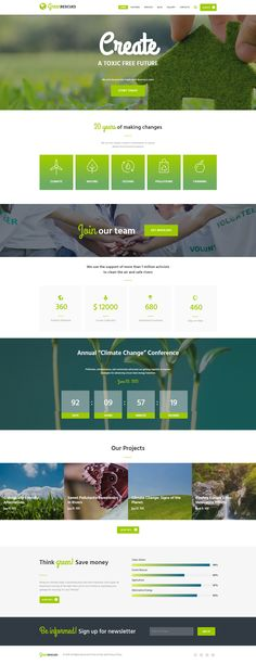 Green Rescues Wordpress Theme is designed specifically for Environment Protection companies, Biological and Ecology related projects, Environmental non-profit organizations or animal and nature protection agencies, as well as for eco fundraisers. With Gre Website Layout, Website Themes, Web Layout, Website Ideas, Agriculture, Template Web, Site Vitrine, Green Web, Wordpress Website Design