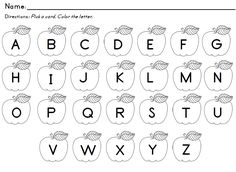 7 Best Images of Free Printable Letter Recognition - Kindergarten Letter Recognition Worksheets, Printable Toddler Learning Letters Activities and Free Printable Letter Recognition Worksheets Letter Recognition Kindergarten, Teaching Letters, Preschool Letters, Letter Activities, Letter Worksheets, Apple Activities, Preschool Projects, Free Worksheets, Reading Activities