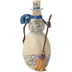 Jim Shore's Blue and Silver Snowman