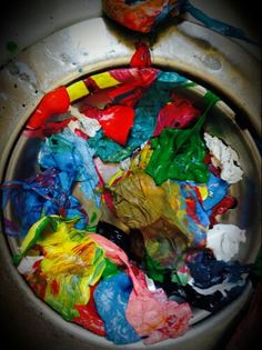 Love the colourful mess!