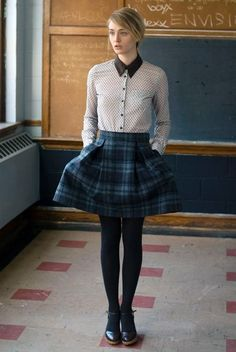 not much of a preppy girl but I like this take on preppy/ grunge a bit. by cristina