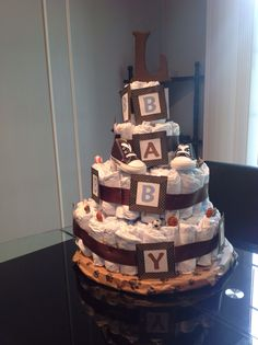 Boy diaper cake #babyshower