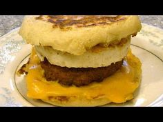 Vegetarian egg mcmuffin recipe(healthier alternative to Mcdonald's sausage egg)