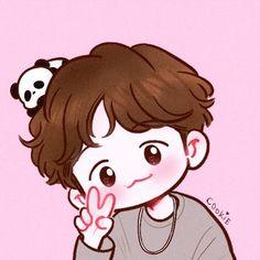 Chanbaek Fanart, Baekhyun Fanart, Kpop Fanart, Chanyeol, Taehyung And Baekhyun, Kpop Drawings, Kawaii Drawings, Cute Drawings, Exo Cartoon