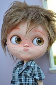 Ooak Custom Factory Blythe Boy Doll, Ben