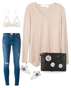 """""""#love"""" by lucky-luci ❤ liked on Polyvore featuring Wilt, Frame Denim, adidas, Topshop and Hanky Panky"""