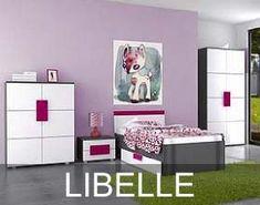 Meble młodzieżowe Libelle to propozycja w szczególności dedykowana młodzieży płci żeńskiej. Ciekawe połączenie kolorystyczne, zastosowane w tych meblach, zachwyci każdą młodą damę.