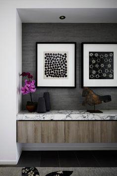 Brighton House by Christopher Elliott Design- grasscloth wallpaper!
