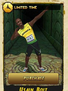 Go Bolt Go   Bolt strikes his classic pose on iPhone (Picture: Temple Run 2)
