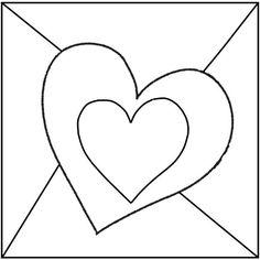 Gabarit - Carte coeur pour la fête des mamies