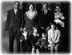 Lawson Family photo taken just hours before the murders.Top Row: Arthur, Marie, Charles, Fannie, Mary Lou.Bottom Row: James, Maybell, Raymond, Carrie.  http://hauntedstories.net/ghost-stories/north-carolina/lawson-family-murders