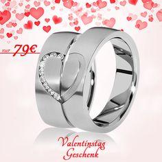 💖 Am 14.02 ist Valentinstag 🔸 Partnerringe aus Titan mit vielen Steinen 🔸 Nur noch 79€ / Paarpreis 🔸 inkl. Versand 🔸 inkl. Gravur 🔸 inkl. Ring-Etui