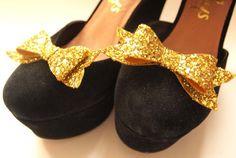 Glitter shoe clips fun shoe accessories glitter by BMillinery