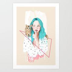 Shhh...+Art+Print+by+Ariana+Perez+-+$18.00