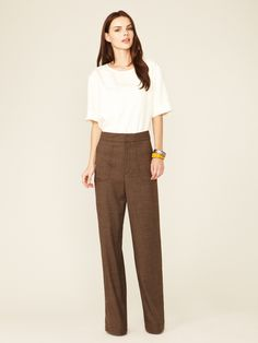 love the katherine hepburn style of these pants - Lightweight Wool Suiting Trouser by Marc by Marc Jacobs