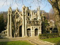 Built by a local postman, Ferdinand Cheval,using stones on horseback during his postrounds. He often worked by moonlight and the palace has a dreamlike quality.