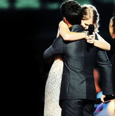 """Taylor and Taylor Lautner after Kanye ruined her VMA. In Back to December """"that september night the first time you ever saw me cry"""" this is what that means"""
