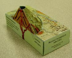 erupting cross section volcano project | How to make a volcano model step by step pictures 3