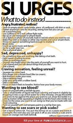alternatives to self-harm
