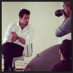 David Gandy during a photoshoot with @George Karabelas Care Guy - June 25, 2013 | Photo by lillylovemakeup