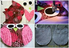 Owl Hot Pad and Potholder Tutorial by Knot Sew Normal for SewMccool.com