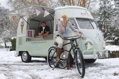 Snow cones from our VW ice cream van!