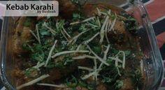 Who said you can't make restaurant style Kebab Karahi at home ? Try this Kebab Karahi recipe and find on your own. World Recipes, Eid Recipes, Karahi Recipe, Eid Food, Red Chili Powder, Garam Masala, Seaweed Salad, Green Beans, Pakistani