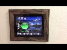 Inexpensive DIY iPad Wall Mount - YouTube