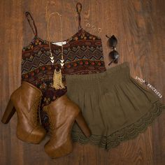 Blissful Thinking Lace Short... from shoppriceless.com on Wanelo