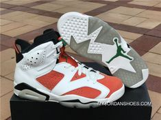 Air Jordan 6 Gatorade Summit White Black Team Orange Basketball Shoes 69c168500