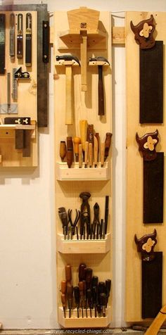 Pallet Wooden Tool Rack #woodworkingbench