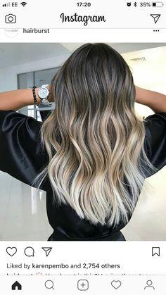 Brown Hair Balayage, Hair Color Balayage, Brown Hair Dyed Blonde, Ombré Hair, Hair Dos, Beautiful Hair Color, Mi Long, Dyed Hair, Hair Inspiration