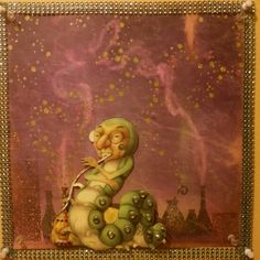 Alice in Wonderland  Absalom the hookah smoking caterpillar I'm in love with this character My scrapbook page
