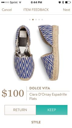 DOLCE VITA Ciara D'Orsay Espadrille Flats from Stitch Fix.   https://www.stitchfix.com/referral/4292370
