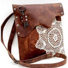 leather doily purse - Google Search