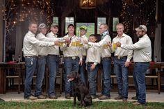 The Loveless Barn, Nashville TN. Men toast in the rain. The Bridal Party. Copyright - Sandra Clukey Photography, Cleveland Tennessee