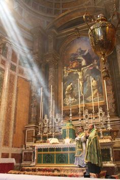 Fr Yousef Marie, F. celebrated his first Solemn High Mass on Sunday June in the Church of the Fraternity of St Peter, Santissima. Catholic Altar, Catholic Mass, Catholic High, Catholic Gifts, Roman Catholic, Catholic Churches, Religious Images, Religious Art, Ignatius Of Antioch