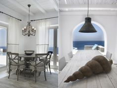 Awesome house with interesting interior and exterior design in the beautiful island Mykonos in Greece.              Via homeguide