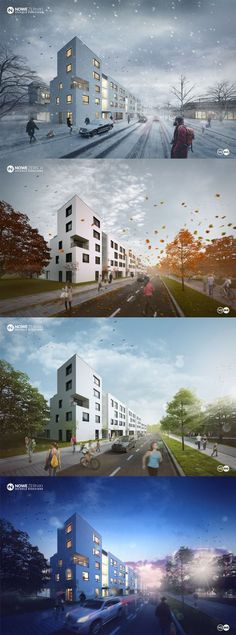 CGarchitect - Professional 3D Architectural Visualization User Community | Seasons, rain - WUWA2 Wroclaw Poland