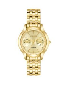 Belk & Co. Women's Ladies Eco-Drive Chandler Watch - Gold - One Size