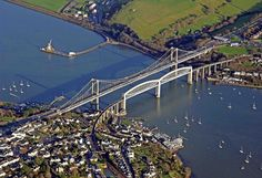 The magnificent Tamar bridge. We know we've arrived when we cross the Tamar