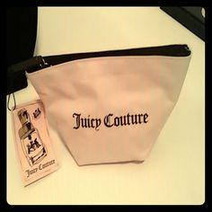 Juicy Couture Makeup bag Pink,zipper cloth makeup bag Juicy Couture Accessories