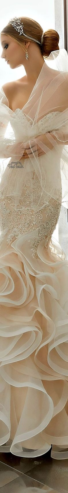❇Téa Tosh❇ (Front) Mirjana Wedding Dress Wedding Beauty, Dream Wedding, Wedding Day, Wedding Photos, Bridal Gowns, Wedding Gowns, Bridal Hair, My Perfect Wedding, Pearl Cream