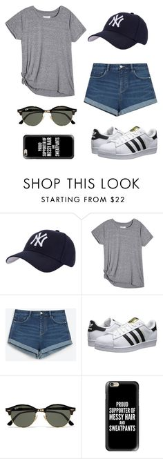 """""""Baseball game outfit⚾️"""" by talyorsmtith ❤ liked on Polyvore featuring Hartford, Zara, adidas Originals, Ray-Ban and Casetify"""